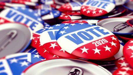 vote election badge button